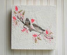 LOVE Song - Original Encaustic Painting by Susan Najarian