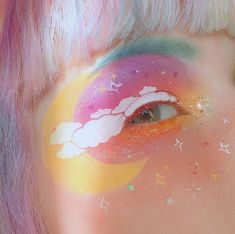 Festival Eye Make Up inspired by Jana Poehlmann Artist Makeup, Eye Makeup Art, Makeup Inspo, Makeup Trends, Makeup Inspiration, Beauty Makeup, Eyeshadow Makeup, Makeup Ideas, Eyeshadow Palette