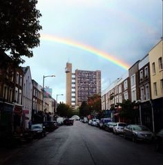 Rainbow over Trellick Tower - at the end of the Golborne Road