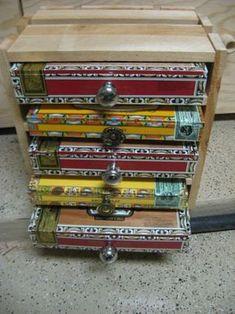 Big 5 drawer Handmade Cigar Box