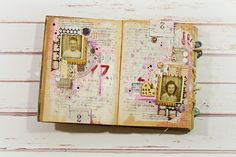 Be brave be strong - art journal spread for Donna Downey