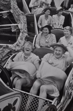 I love this photo! The contrast between the ladies in the front row & the third row!