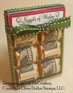 Graduation money gift ideas - Nuggets of Wisdom by gabrielle for my sister Creative Gifts, Cool Gifts, Diy Gifts, Creative Ideas, Grad Gifts, Party Gifts, Cheap Graduation Gifts, Holiday Fun, Holiday Crafts