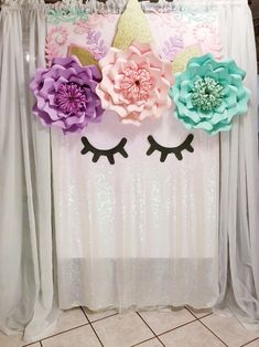 #largepaperflowers #papercrafting #paperflowers #floresdepapel #partyideas #backdrop #colorfulcolors #unicornparty #unicornbackdrop #partyideas