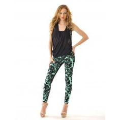 Pantalones Pitillo Estampados Mujer PA178