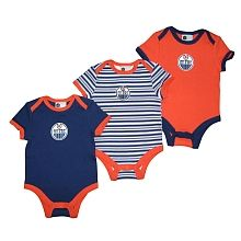 NHL - Oilers 3 Piece Creeper Set, 3 Months - Assorted Colors