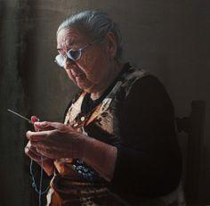 Artista: Manuel Rivero, Ado-Nay. Título: Chacha. Óleo sobre lienzo metálico. 65x65 cm. 2018