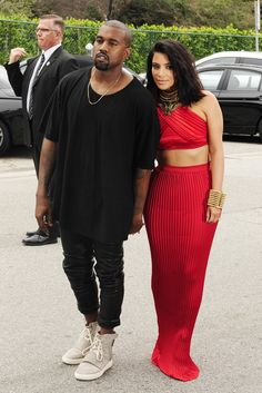 Kanye West and Kim Kardashian [Photo by Amy Graves]