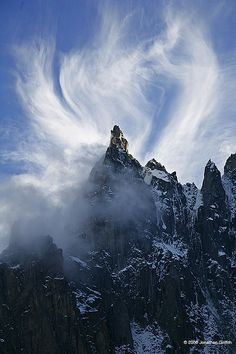 ☀Cloud formation on the Dent du Requin by Jonathan Griffith*