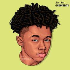 Cartoon Faces, Cartoon Art, Man Illustration, Unique Drawings, Vector Portrait, Black Men, Cartoons, Portraits, Photo And Video