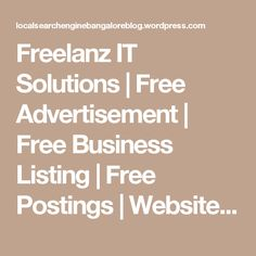 """Freelanz IT Solutions 