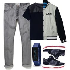 Teenage Time by langweilig-ei on Polyvore featuring polyvore fashion style GANT Valentino NIKE