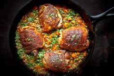 Crispy Berbere Chicken with Ethiopian Lentils by feastingathome #Chicken #Lentils