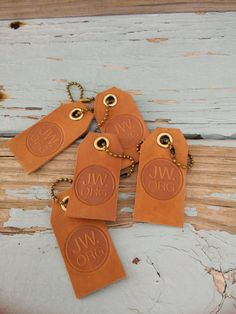JW.ORG 5 Leather Keychains or luggage tags . by BlueMonkeyGallery