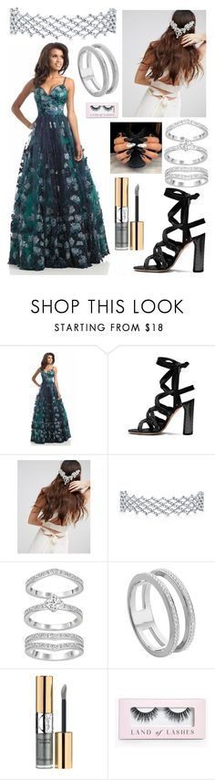 """""""Slytherin Formal"""" by theatrekid24601 ❤ liked on Polyvore featuring Johnathan Kayne, Her Curious Nature, Monica Vinader, Yves Saint Laurent and Boohoo"""