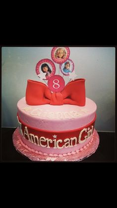 #American-Girl #cake by www.sweetaddictioncake.com