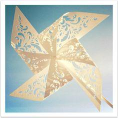 Lacy Pinwheel Art Print