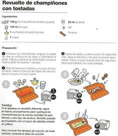 Revuelto de champiñones con tostadas lékué