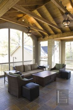 1000 images about porches sunrooms and patios on for Open beam front porch