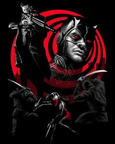 Daredevil - The Punisher - Elektra - Universo Marvel Daredevil Punisher, Punisher Netflix, Marvel Dc, Marvel Comics, Captain Marvel, Comic Book Characters, Marvel Characters, Comic Character, Punisher