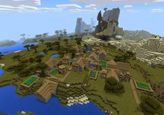 Minecraft PE seed : 631023781 - Double Village - http://minecraftpedownload.com/631023781-double-village/