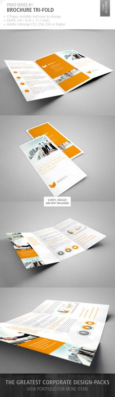 Brochure Tri-Fold Print-Series #1 by schwarzbrotgold, via Behance