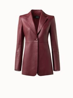 Akris® Official – Long Leather Blazer Leather Blazer, Wide Leg Pants, Stylists, Fall Winter, Runway, Legs, Minimal, Jackets