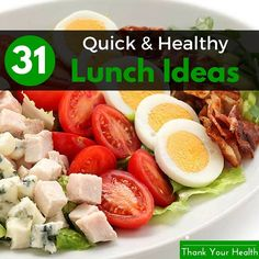 Do you want to prepare a quick and healthy lunch? Short on ideas and time? In this post you will discover 31 quick, healthy lunch ideas.
