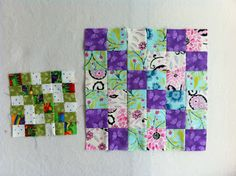 "6.5"" and 12.5"" unfinished - Pamelaquilts: Reflections Quilt Block"
