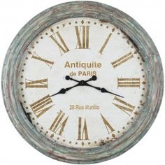 Rue Murillo Verdi Wall Clock - Vintage style wall clock, only Large Clock, Decorating Your Home, Vintage Clocks, Wall Clocks, Vintage Style, Chiming Wall Clocks, Midcentury Clocks, Vintage Fashion, Preppy Fashion