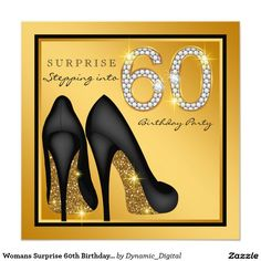 11 best stepping into 60 birthday party images on pinterest in 2018 womans surprise 60th birthday party invitation filmwisefo