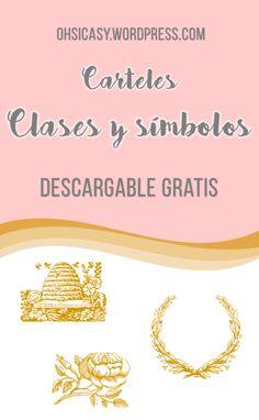 ¡Descargable gratis! Carteles con los nombres y símbolos de las clases de las Mujeres Jóvenes. ohsicasy.wordpress.com