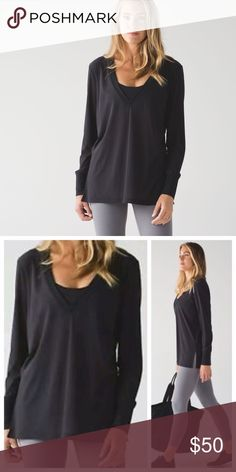 Lululemon get low long sleeve great condition, oversized fit. open to offers. tags not attached/ inside tag not attached. lululemon athletica Tops Tees - Long Sleeve