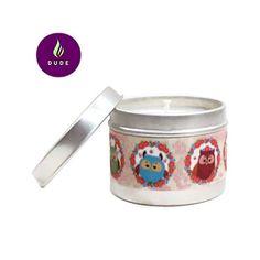 Bougie Parfumée Fleurs des iles Cire Végétale Ruban Lama 200 gr pour