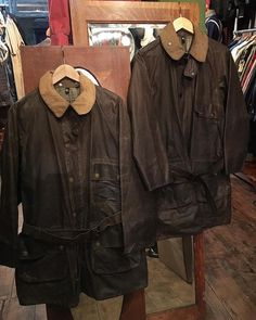 2017/11/22 02:35:54 ragparadesheffield A pair of 1950's Barbour's of South Shields 'Solway Zippers' #RagParadeSheffield #VintageMenswear #JojosGeneralStore #VintageBarbour #Barbour #Barbours #BarboursOfSouthShields #VintageWax