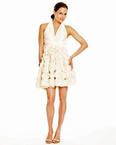 Short Ivory Bridesmaid Dress