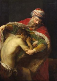"""#Rembrandt -- """"The Prodigal Son"""" -- Circa 1669 -- Rembrandt van Rijn -- Oil on canvas -- The Hermitage -- St. Petersburg, Russia"""