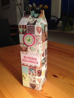 Verpackung einer Piccolo-Sektflasche