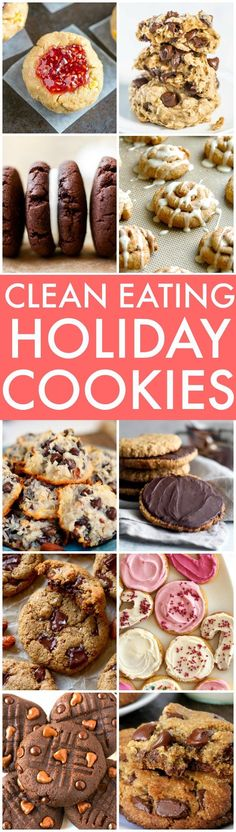 Clean Eating Holiday Cookies (V, GF, Paleo options)- The BEST Clean Eating and Healthy Holiday Cookies perfect for Christmas, the festive season, gifts and more- Flourless, no bake and sugar free options! {vegan, gluten free, paleo recipe options}- thebigmansworld.com