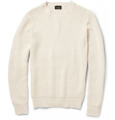 A.P.C.Knitted Mercerised Cotton Sweater|MR PORTER