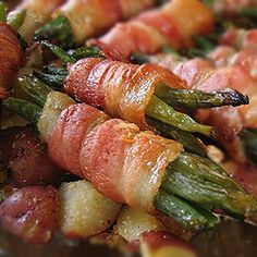 Bacon-wrapped green beans. Sure, it turns my favorite vegetable into something totally unhealthy, but BACON.