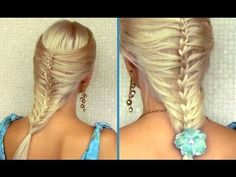 Romantic summer hairstyle: cage / mermaid french braid tutorial