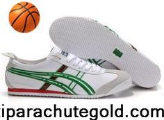 Cheap Discount Asics Onitsuka Tiger Mexico 66 Mens White Green Red