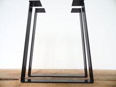 28 Trapezoid Table Legs Flat Steel POWDER COATED SET2 by Balasagun