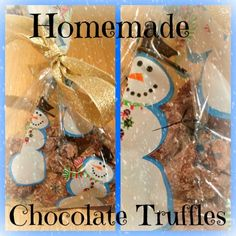 I always send a few homemade gifts each year. One of my most popular gifts are melt in the middle chocolate truffles. Handmade Christmas, Christmas Gifts, Chocolate Truffles, Homemade Chocolate, Homemade Gifts, Gingerbread Cookies, Advent Calendar, Christmas Bulbs, Middle