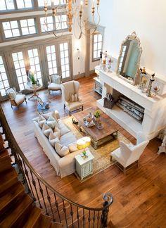 Furniture arrangement idea for the massive living room.