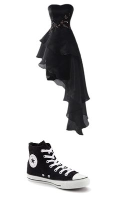 """""""Tomboy Prom"""" by jaime1lunceford on Polyvore featuring Converse"""