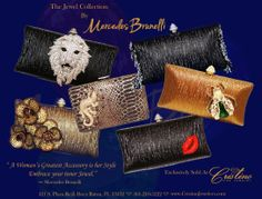 Mercedes Brunelli Jeweled Evening Clutches Evening Clutches, Her Style, Latest Fashion, Jewels, Bags, Accessories, Clothes, Collection, Women