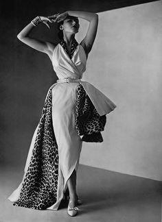 Modello abito da sera Dior 1950