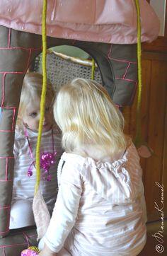 DIY Spiege aus Stoff und mit Spiegelfoliel im Rapunzel-Look